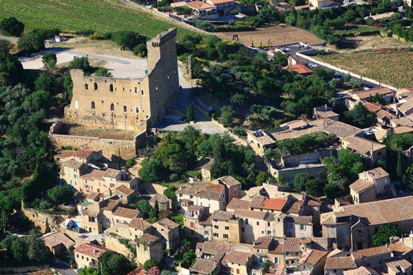 Châteauneuf-du-Pape - Vue aérienne